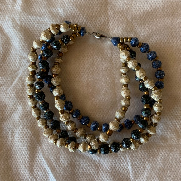 31 Bits Jewelry - 31 Bits Bracelet Blue, Gold and Green